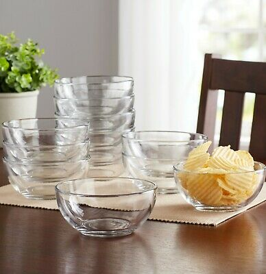 Cereal Fruit Serving Salad Glass Bowl Round Glass Bowls Catering Pack, Set of 12