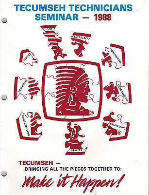 Tecumseh Technicians Seminar  Manual 1988