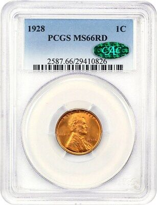 1928 1c PCGS/CAC MS66 RD - Lincoln Cent
