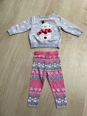 Girls Christmas Jumper And Leggings Age 1 1/2-2 Years From Next
