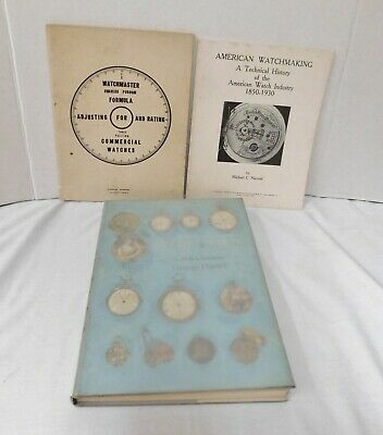 WATCH REPAIRING WATCHMAKING BOOK BOOK LOT OF 3 Charles Purdom Michael Harrold