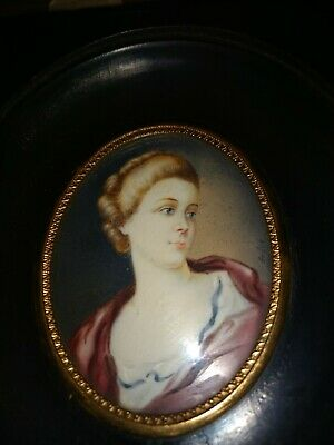 Miniatures portrait  painting of a young woman, I believe it to be  German .