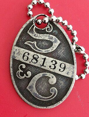 Early Charge Coin Tag: STRAWBRIDGE & CLOTHIER; Famous Dept Store Philadelphia