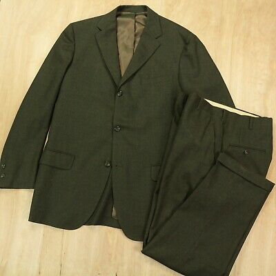 "vtg 60s 70s suit PALM BEACH green size 42 LONG w/ 33x30"" pants ivy trad mad men"