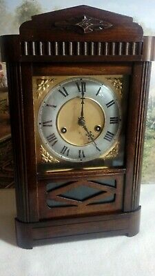 HAC Edwardian striking clock in excellent restored serviced working condition