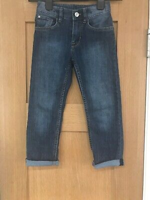 Brand New H&M Boys Slim Fit Dark Denim Jeans Age 5-6 Years