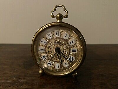 Linden West German Gold Filigree Alarm Clock