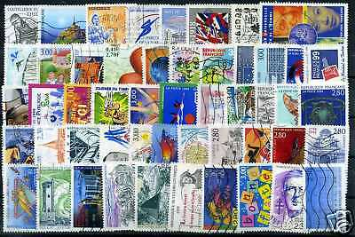 FRANCE LOT de 50 timbres oblitérés, TB, VF used, cancelled FRENCH STAMPS