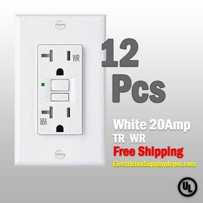 GFCI 15 AMP GFI (12PACK)Receptacle Outlet TAMPER RESISTANT TR WR WHITE UL GFCI