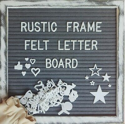 "The Best Quality Rustic Felt Letter Board, 10""x10"" Sustainable Pine Wood Frame"