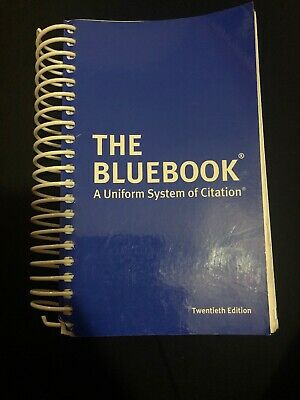 the bluebook: a uniform system of citation 20th