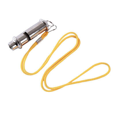 Outdoor EDC Survival Whistle Stainless Steel High Decibel Double Whistle W4F4