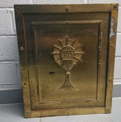 Antike Tabernakel Tabernacle Door / Messing Brass Bronze Um 1920 / Kirche 26Kg