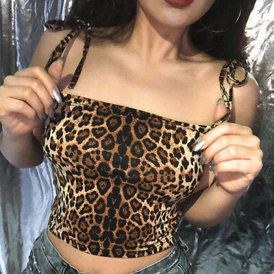 Sexy Women's Fashion Tank Tops Leopard Print Casual Vest Halter Blouse Camisole