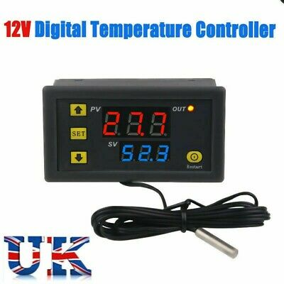 Red And Blue Display DC Digital Thermostat Temperature Controller 12V-220V W3230