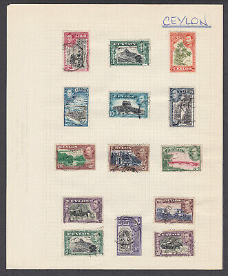 43 George VI Territory Issue Stamps: Solomon Is, Somaliland, Cayman Is, Ceylon