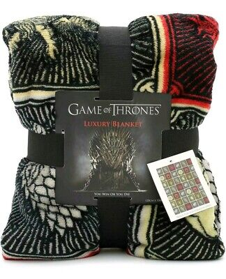 Game Of Thrones Gifts Merchandise Blanket Soft Luxury Bed Throw Stark Lannister