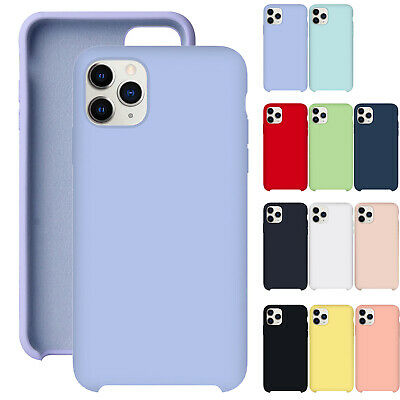 For iPhone 11 Pro Max XS XR 8 76 Plus Soft Liquid Silicone Shockproof Case Cover