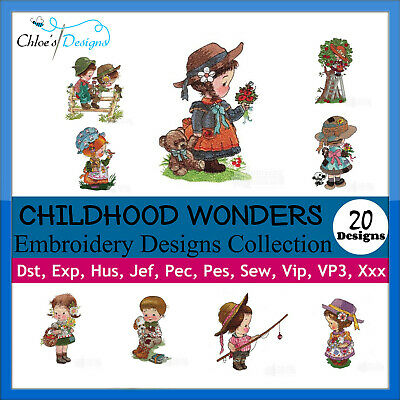 Childhood Wonder Collection Machine Embroidery Designs On Cd Or Usb Pes Jef