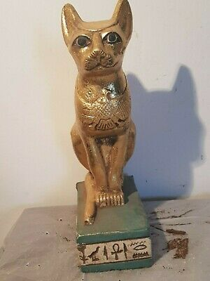 Rare Antique Ancient Egyptian Statue God Bastet Horus Protection 1680-1590BC