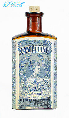 Nice AMBER color WAKELEE'S CAMELLINE antique TOOTH PASTE bottle For The TEETH SF