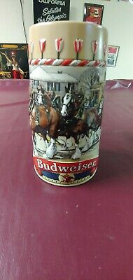 1986 Budweiser Stein Holiday Christmas Limited Edition B Series Clydesdale Cs66