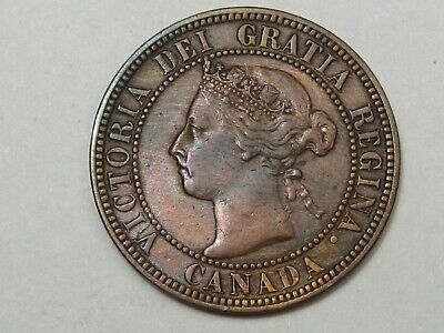 1896 Canadian Large Cent Penny. CANADA.  #117
