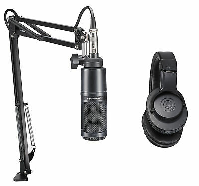 Audio Technica 1-Person PC Podcast Podcasting Package Microphone+Headphones+Boom