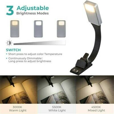 Flexible Adjustable Clip On Book Reading Light Lamp USB Rechargeable Night Lamp.