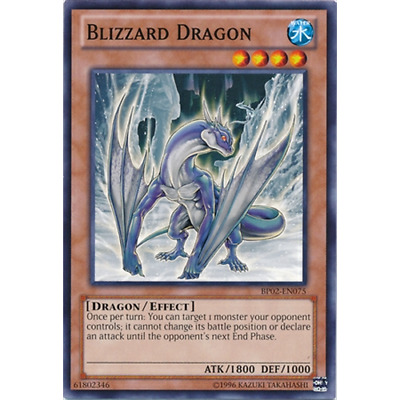 BP02-EN075 x3 Blizzard Dragon 1st Common