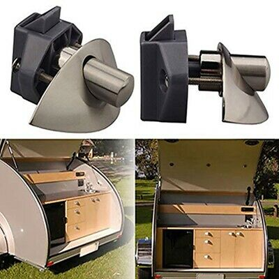 Caravan Cupboard Lock Safety lock and Lever door handle  Boat Drawer Cupboard S