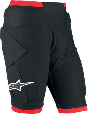 Alpinestars Compression Protection Shorts Black/Red Mens Size S