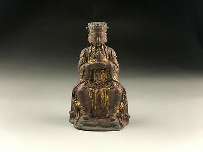 Rare Chinese Bronze Gold plating the God of Wealth Statues The Ming Dynasty