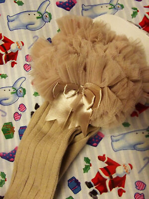 Dream 12-18 Months  Baby  Girls Camel Tutu Bow  Knee High Spanish Socks