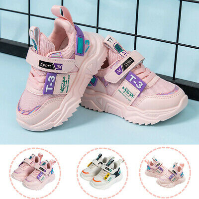 Toddler Infant Kids Baby Girls Boys Shoes Mesh Sports Casual Fashion Sneakers UK