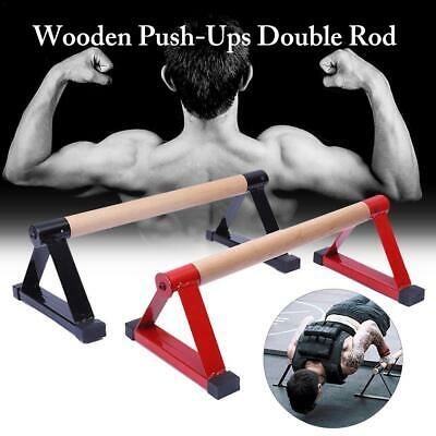 Wood Parallettes Set Stretch Stand Calisthenics Handstand Fitness Equipment