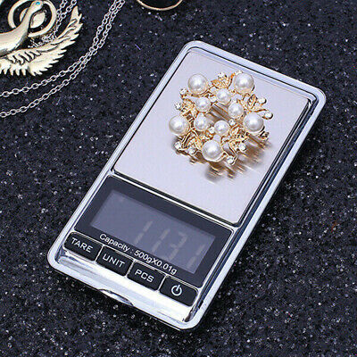 Electronic Pocket Mini LED Digital Gold Jewelry Weighing Scale 0.01g Silver