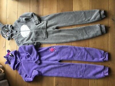 2 new fleece all in ones ,1 disney 138 cm about age 8-9 1 my little pony