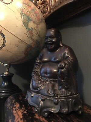 Vintage resin heavyweight laughing Chinese Buddha