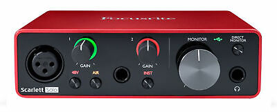 Focusrite SCARLETT SOLO 3rd Gen 192kHz USB Audio Interface w/ Pro Tools First