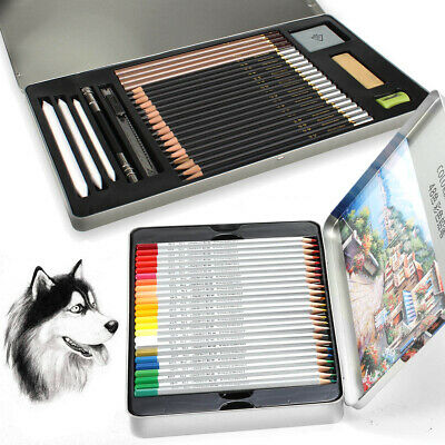 For Coloring Drawing Sketching 48 Professional Oil Based Colored Pencils Artist