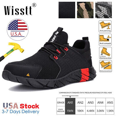 Men's ESD Steel Toe Work Boots Safety Shoes Indestructible Bulletproof Sneakers