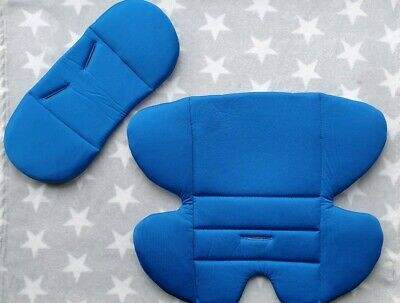 Mothercare Journey Newborn Car Seat Pads Insert Head Support in Blue