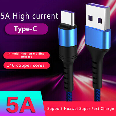 5A High Current TypeC USB 3.0 Fast Charging Cable For Huawei Xiaomi Quick Charge