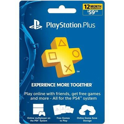 12 Month PlayStation Plus Membership PS (Digital Via Email) Instant Delivery!