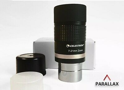 "CELESTRON 7-21 mm ZOOM 1.25"" EYEPIECE for TELESCOPES."