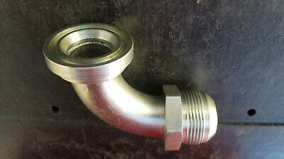 New EATON Hydraulic hose FITTING #20 flare to 90° elbow SAE Code 61 Flange Head