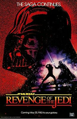 "Star Wars movie poster - Revenge Of The Jedi poster 11"" x 17""  Star Wars poster"