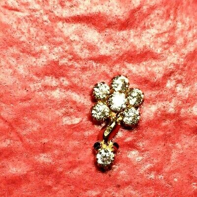 Sparkling Real 22K GOLD Nose Lip Stud Piercing nose pin brand new