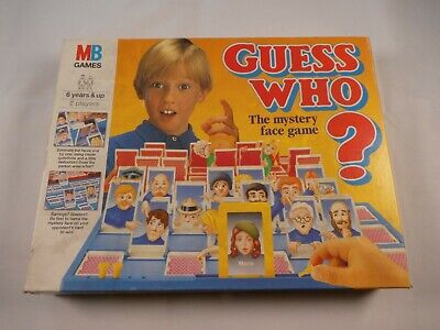 Mb Guess Who?  Retro Vintage  100% Complete Family Fun Game